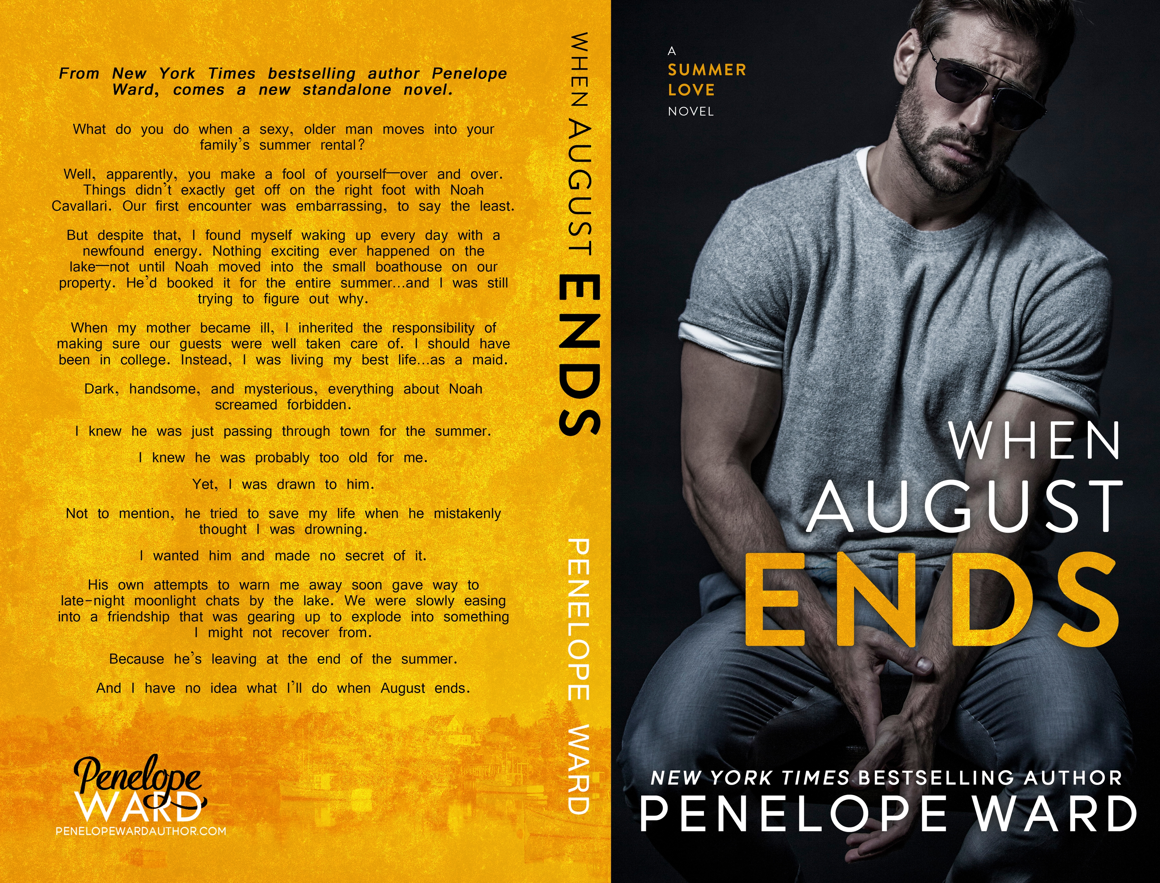 Cover reveal WHEN AUGUST END By Penelope Ward – Magic book club